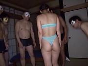 Asa Hikaede flaunts her sweet sexy oiled body