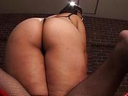Hana Yurino enjoys getting drilled by a big dildo