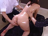 Naughty Asian milf Saryuu Usui is oiled and fucked