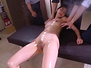 Milf beauty Saryuu Usui enjoys fisting in threesome