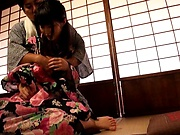 Lady in a kimono got fucked very hard