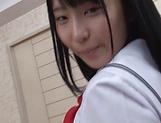 Mesmerizing teen cutie Aya Akiyama likes flaunting her cunt picture 11