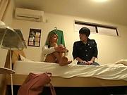 Japanese blonde got nailed for cash