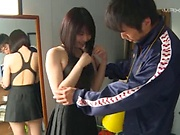 Ishigami Satomi and dude in wild outdoor fucking