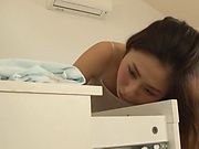 Amazing Tokyo housewife goes for a huge dick enjoys rear fuck