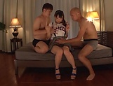 Japanese cutie Eri Natsume loves giving double blowie