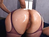 Pretty Asian chick Hana Yurino enjoys steamy threesome picture 13