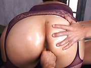 Pretty Asian chick Hana Yurino enjoys steamy threesome