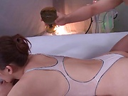 Curvy Aine Maria in raunchy massage action