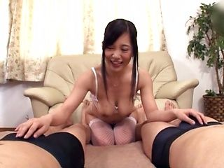 Japanese mature made a POV with a facial