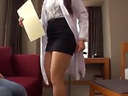 Busty Japanese AV model gets titfucked and enjoys a cock ride