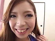 Flaming Japanese sucks naked and endures heavy fucking