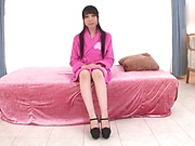 Japanese teen brunette loves threesomes