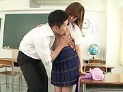 Schoolgirl with tiny tits had wild sex