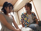 Japanese teen with shaved pussy is horny