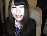 Alluring schoolgirl Rian Natsu in a hardcore fisting session picture 11