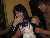 Alluring schoolgirl Rian Natsu in a hardcore fisting session picture 14
