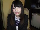 Alluring schoolgirl Rian Natsu in a hardcore fisting session