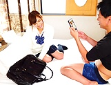 Hottie with a shaved pussy Akiyoshi Kanon fucked by her classmate