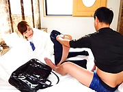 Hot Akiyoshi Kanon deals a premium cock with passion