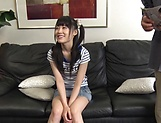 Tsuchiya Asami has her shaved pussy pleasured picture 11