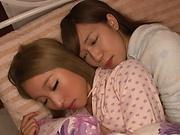 lesbian fun involvingFujikawa Reina and Natsuki Marina