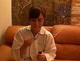 Curvy teen beauty Akiyoshi Kanon gets pussy toyed and licked