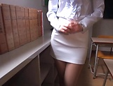 Office babe removes clothes for a good fuck  picture 14
