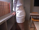 Office babe removes clothes for a good fuck  picture 15