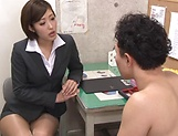 Hot Asian teacher enjoys student's huge hard cock in her cunt picture 4