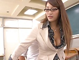Spicy Asian teacher Wakana Nao get freaky with a student picture 15