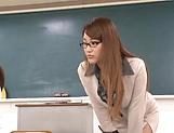 Spicy Asian teacher Wakana Nao get freaky with a student