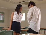 Petite hottie Ichinose Miki teases in her sexy short skirt picture 2