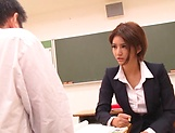 Sexy Asian teacher Nozomi Aso gets screwed and 69 picture 14