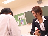 Sexy Asian teacher Nozomi Aso gets screwed and 69 picture 15