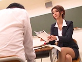 Hot luscious Nozomi Aso rides cock and she loves cream