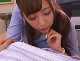 Hot teacher from Tokyo Aizawa Maria enjoys hardcore mmf sex picture 12