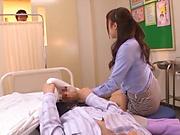 Hot teacher from Tokyo Aizawa Maria enjoys hardcore mmf sex