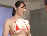Big tits teacher Nikaidou Yuri fucks her young stud