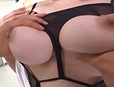 Sexy teacher Nakamura Chie enjoys showcasing her melons picture 14
