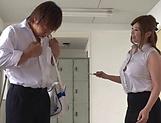 Sexy teacher Nakamura Chie enjoys showcasing her melons