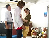 Aoyama Hana ,shows her wang engulfing skills picture 11