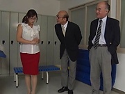 Lustful Japanese teacher Miyabe Suzuka toys herself