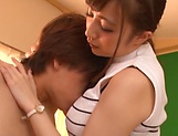 Oversexed Tokyo teacher Aizawa Maria gets tits and pussy fucked picture 15