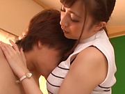 Oversexed Tokyo teacher Aizawa Maria gets tits and pussy fucked