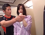 Hardcore teacher Mizuho Uehara gets bukkake delights picture 11