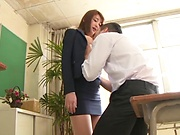 Wakana Nao ,pleasures a lad to eruptive delights