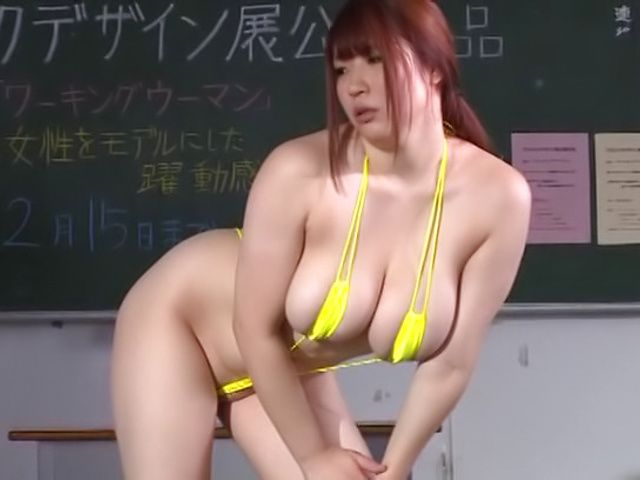 Chitose Saegusa blows several cocks wonderfully