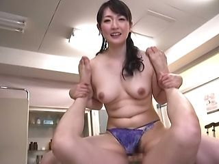 Lusty dude gives Nikaidou Yuri his dick for consumption