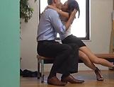 Petite love Ichinose Miki enjoys a wild hardcore office drill